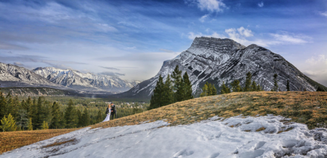 Elopement at Tunnel Mountain Meadow, Banff, AB