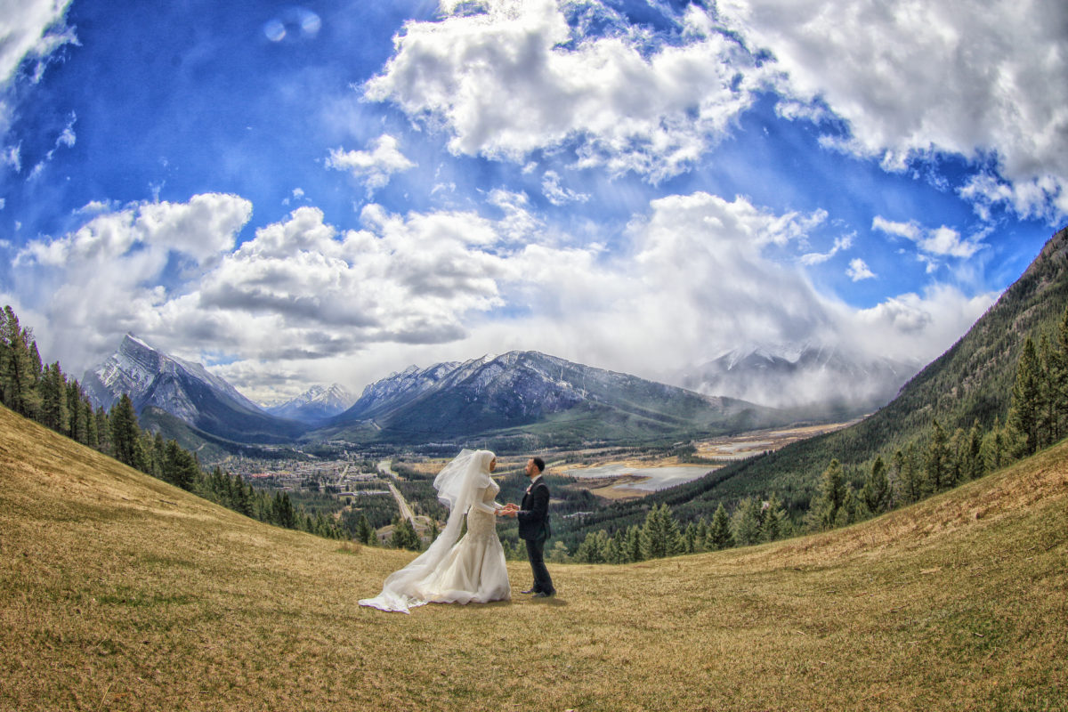 Banff national Park,Bride in wedding burka, Banff wedding photographers, Burnett Photography