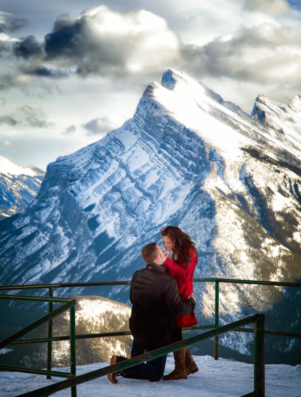 best wedding proposal Banff