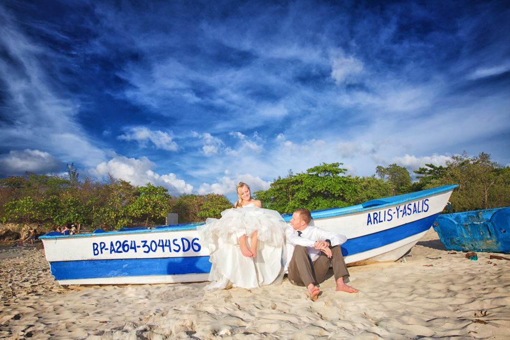 Bride and Groom, Playa Macao, Destination wedding, Burnett Photography