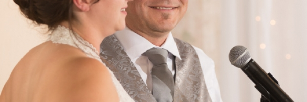 Bride & groom speech, Lake Louise wedding, Lake Louise wedding photographers, Banff wedding photographer