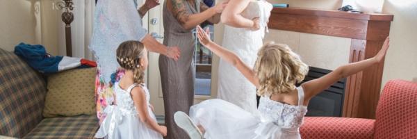 Flower girls, Lake Louise wedding, Lake Louise wedding photographers, Burnett Photography, Banff wedding photographer