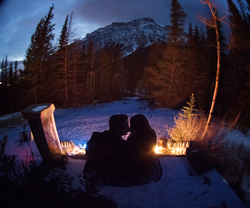 Banff Marriage Proposal Bankhead Burnett Photography