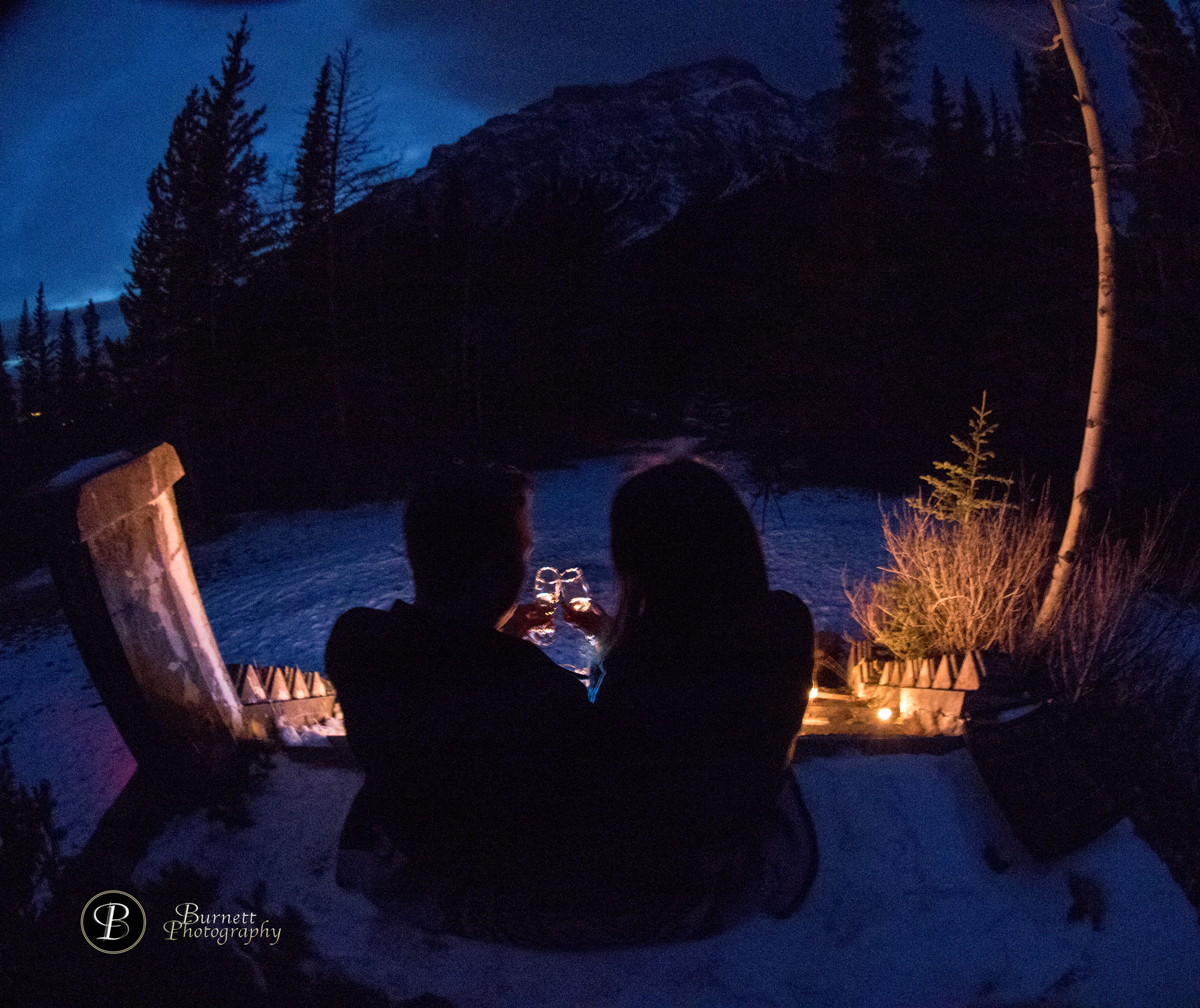 Banff Proposal At Bankhead Ruins Banff National Park Burnett Photography