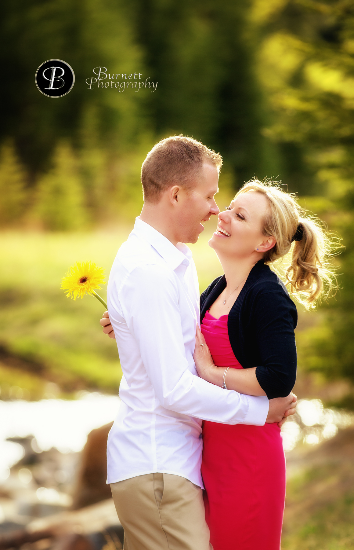 Engagement session, Johnson Lake, Banff National Park, Basia & Chris