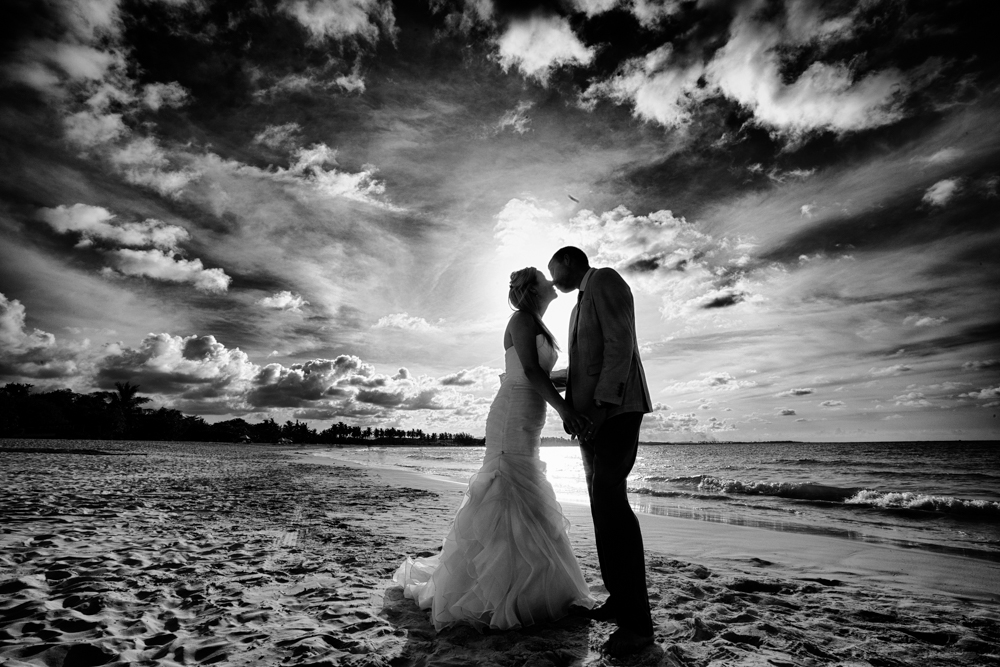 sunset wedding portrait, Trash the Dress, Dominican Republic, Banff wedding Photographers