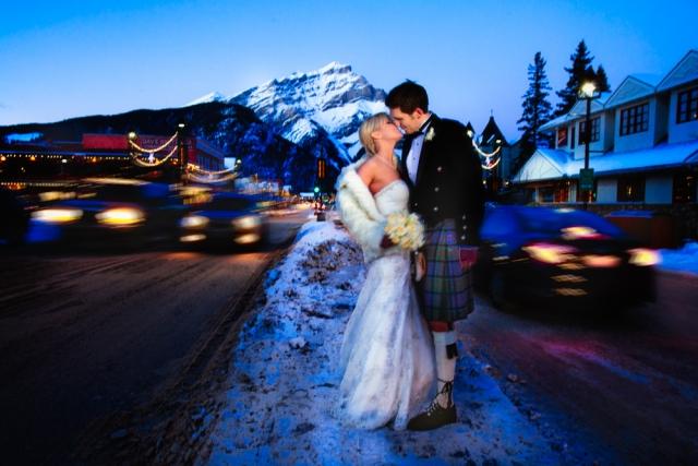 newlyweds, banff wedding, banff wedding photographers