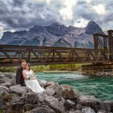 The Engine Bridge, Canmore wedding, Canmore