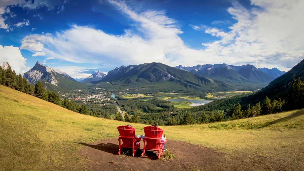 Banff National Park Red Chairs