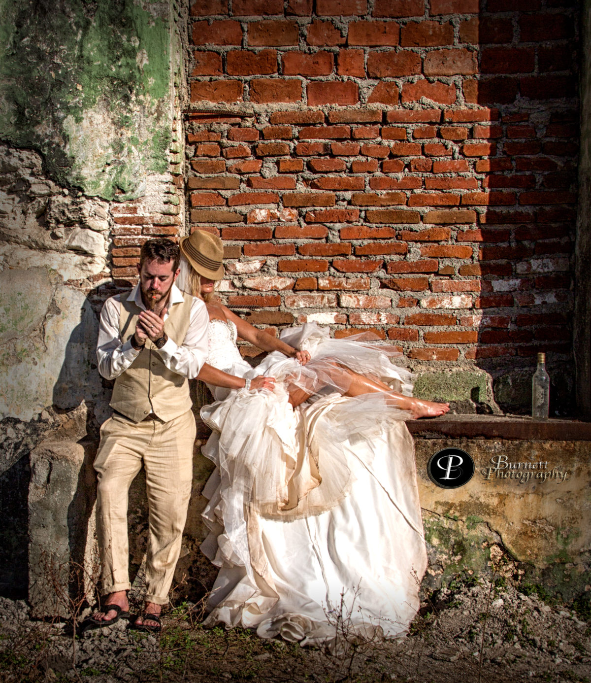 Wedding in Cuba: bride and groom Cayo Santa Maria, Cuba by Burnett Photography