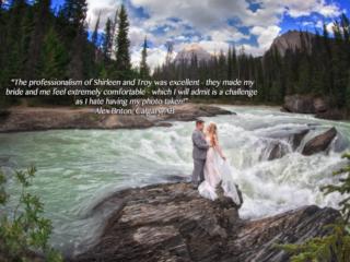 Lake Louise Photographer, Burnett photography, natrual Bridge, B.C.