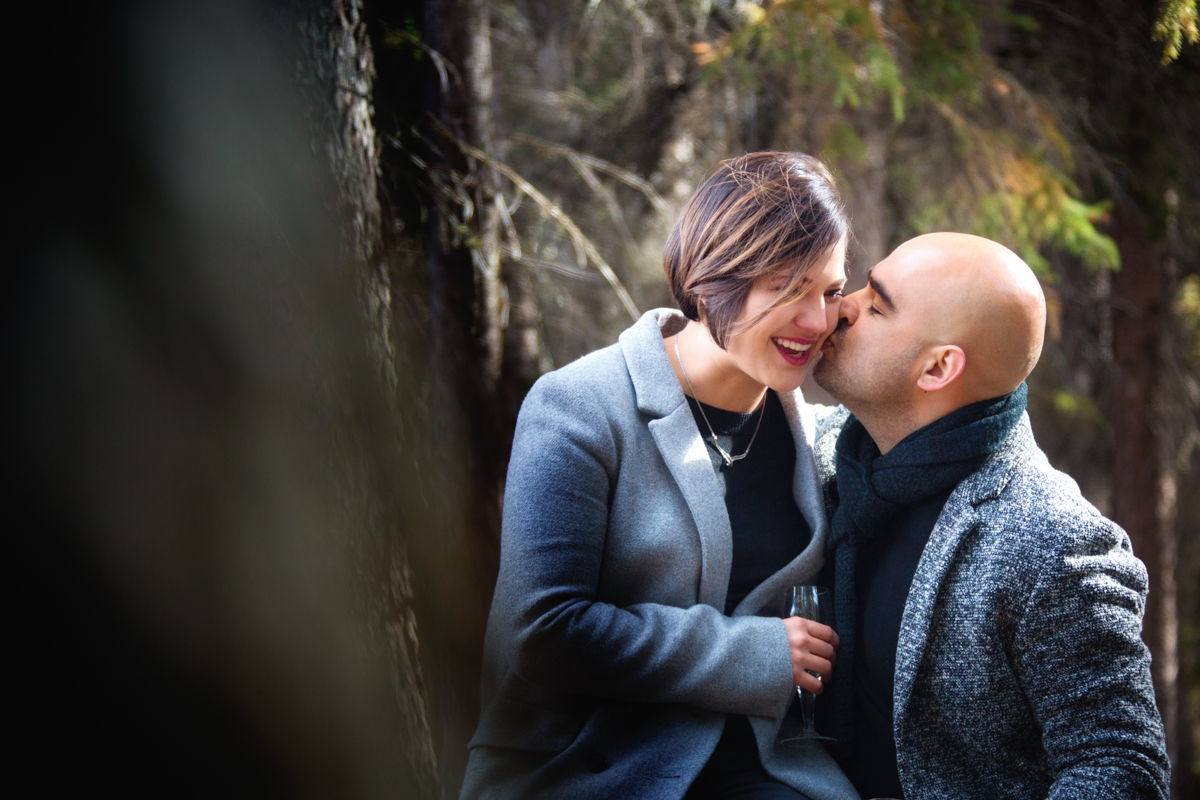 Engagement portraits, Banff, wedding photographers, Burnett Photography
