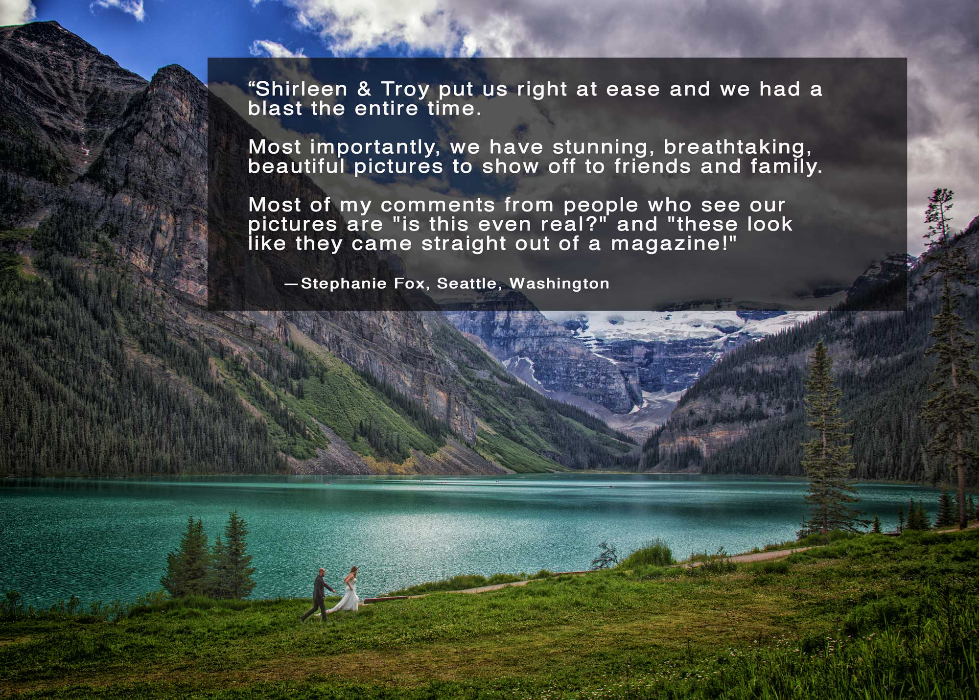 Elopement in Lake Louise, Banff photographers, Burnett Photography