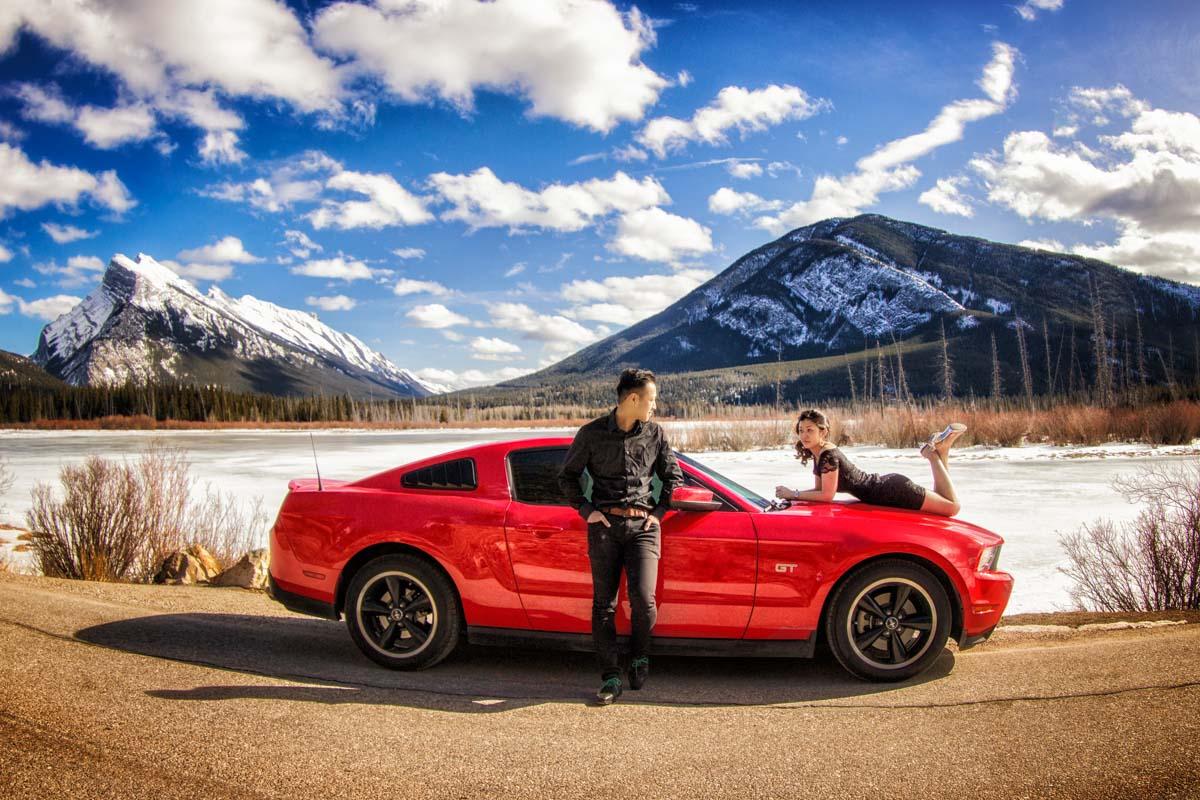 Engagement pictures, Banff photographers, Burnett Photography