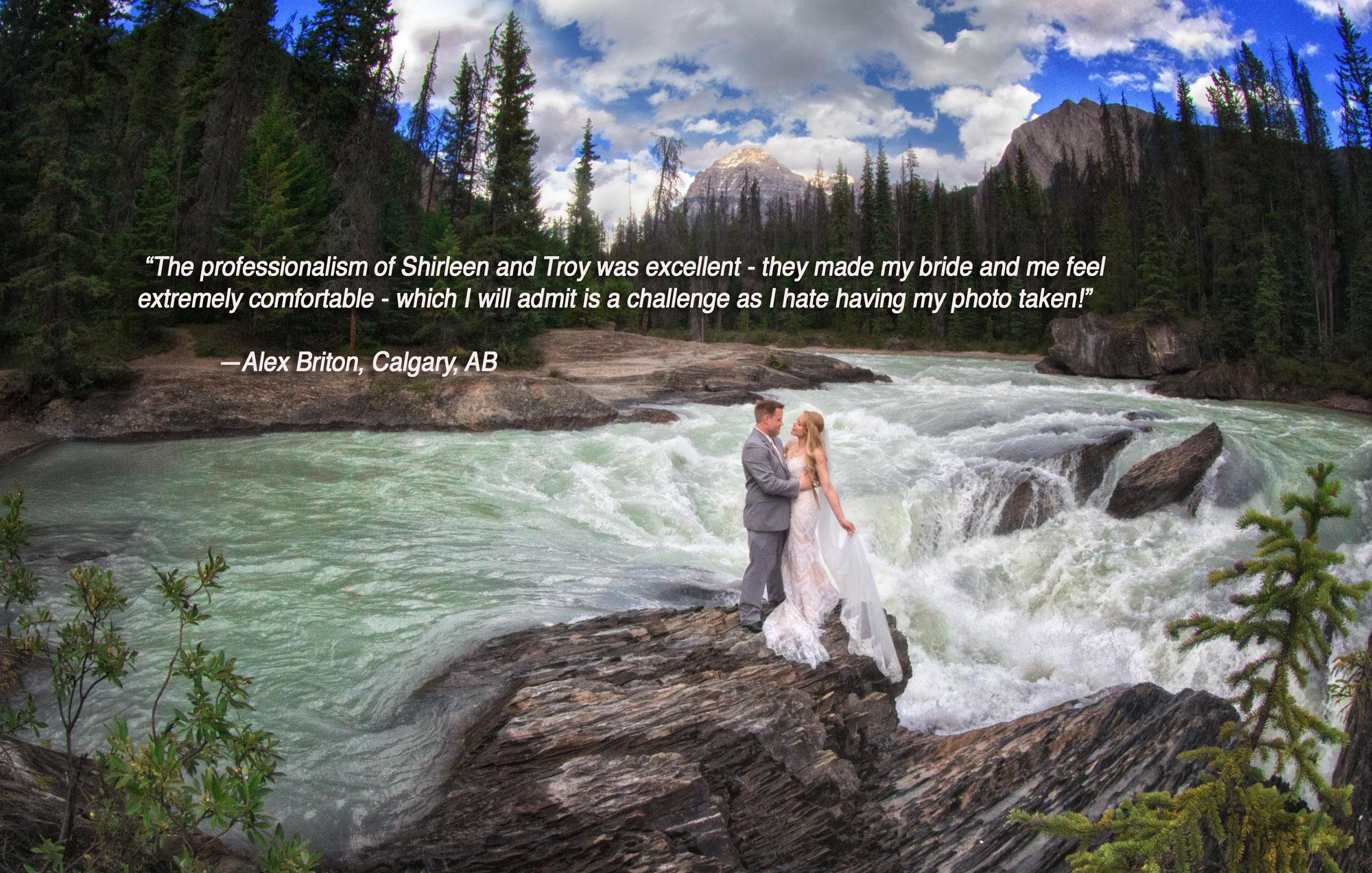 Elopement in B.C.,  Banff photographers, Burnett Photography