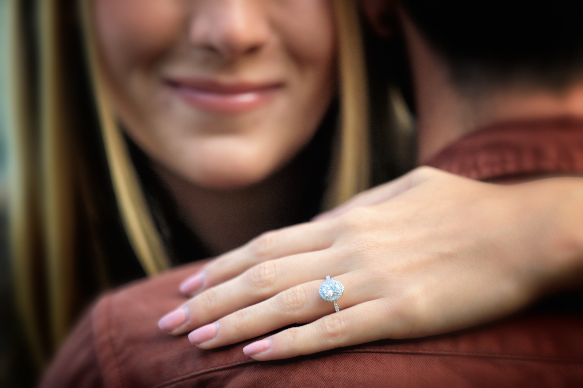 The ring. Moraine Lake wedding proposal by Banff wedding photographers, Burnett Photography.