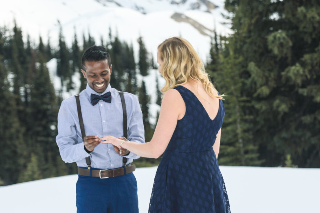 Marriage proposal in the mountains, Banff wedding photographers, Burnett Photography