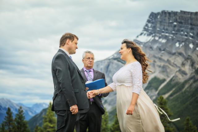 Elopement ceremony in Banff