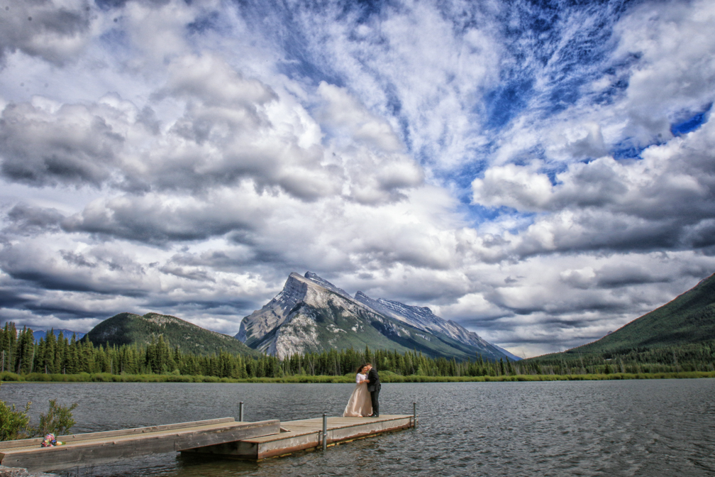 Dramatic sky at Vermillion Lakes, Banff