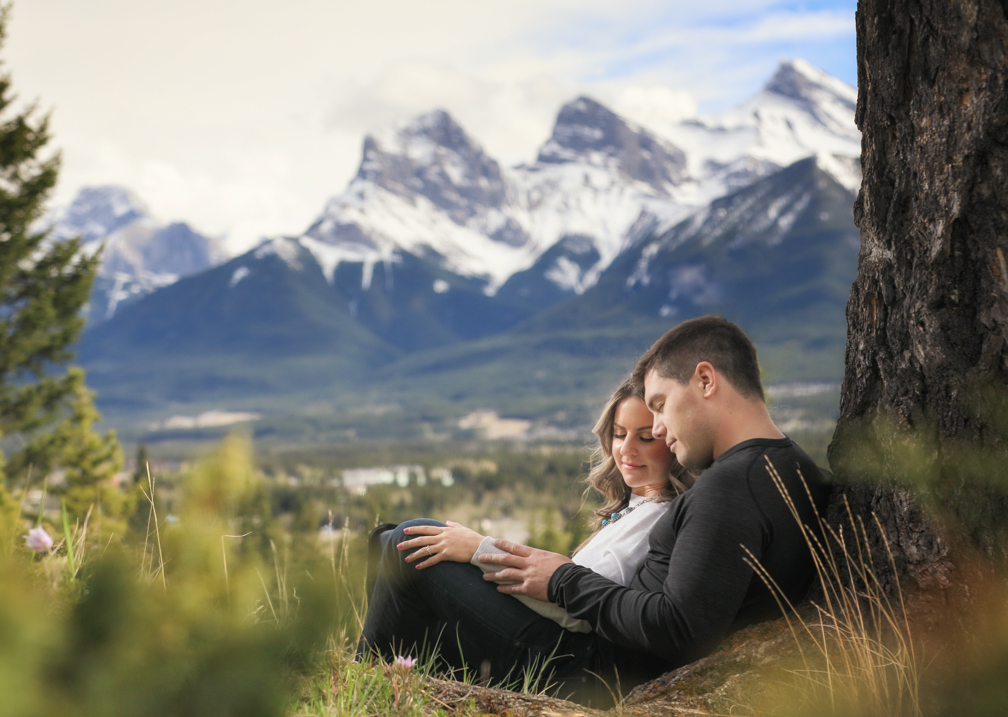 Canmore engagement pictures, Banff wedding photographer, Burnett Photography.
