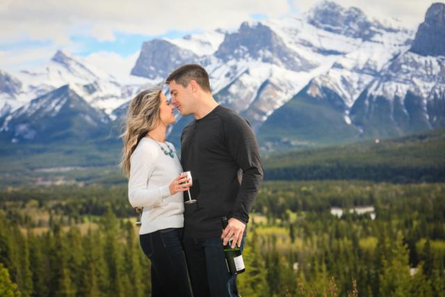 Newly engaged couple, Canmore, Banff wedding photographers, Burnett Photography