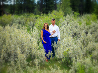 Wolf willow galore, Canmore portrait session.
