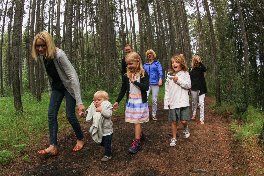 Family Photography in Banff, Johnson Lake, Banff National Park