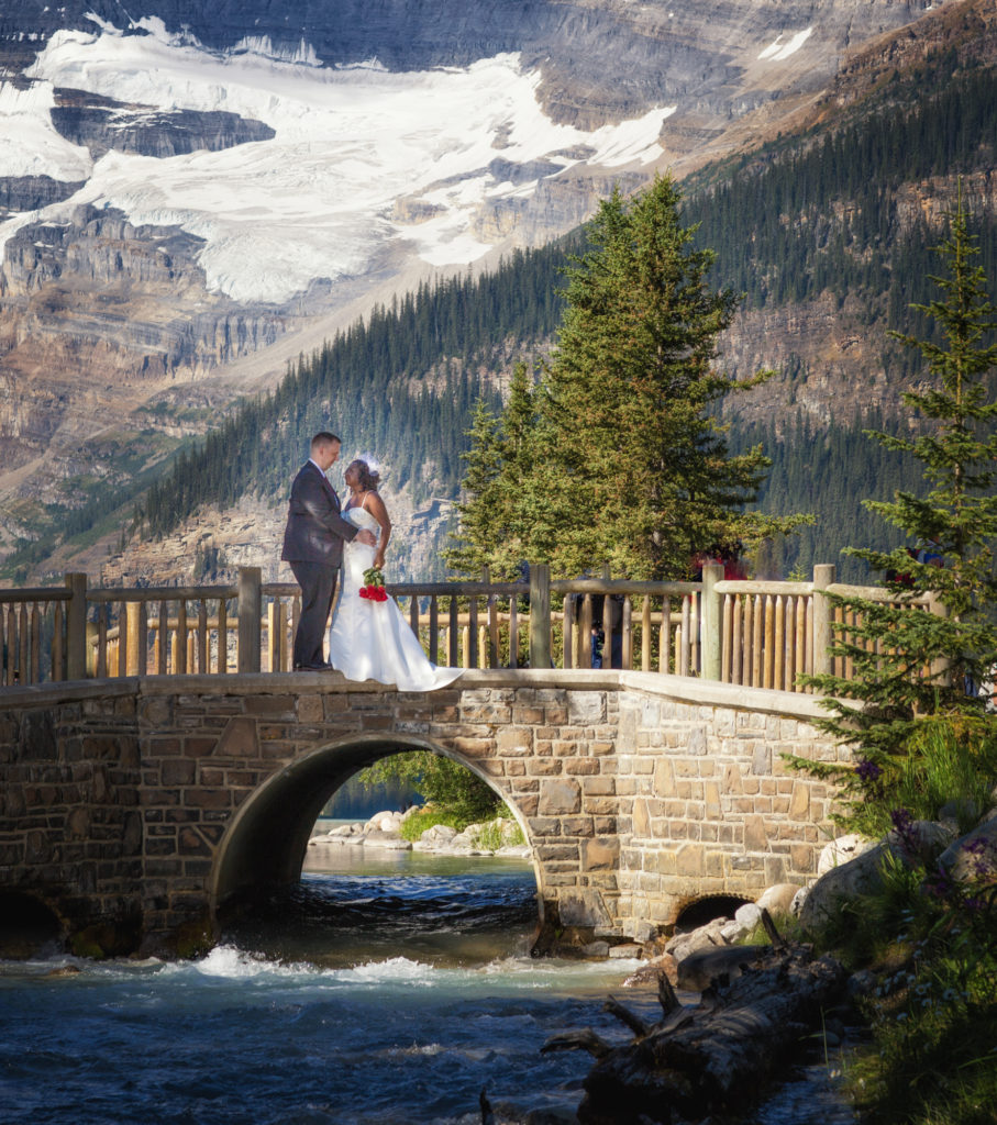 Fairmont Lake Louise elopement of Norma & Bill.