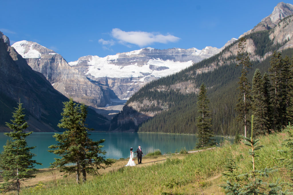 Fairmont Lake Louise elopement of Norma & Bill.