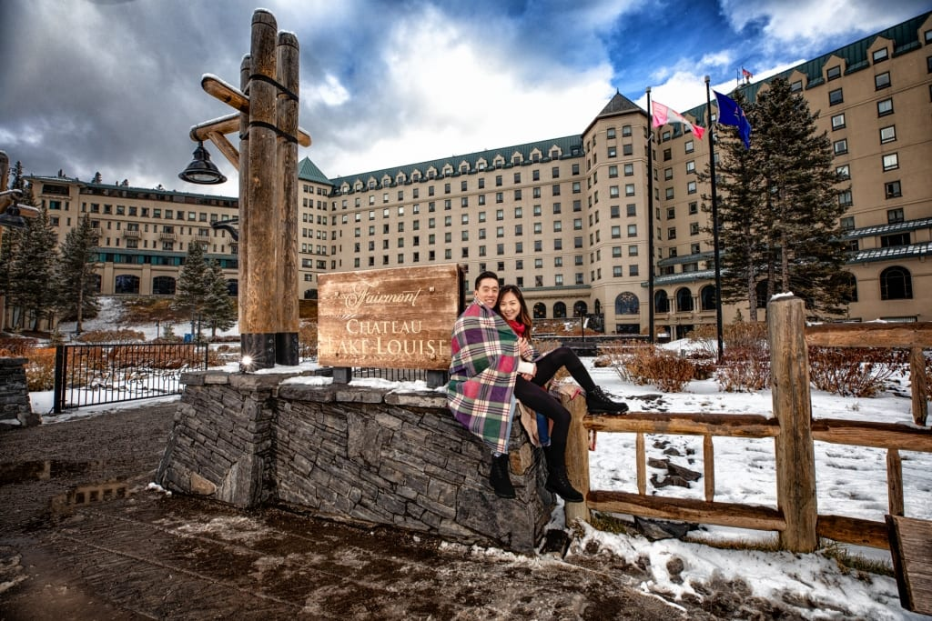 Engagement photography, Lake Louise