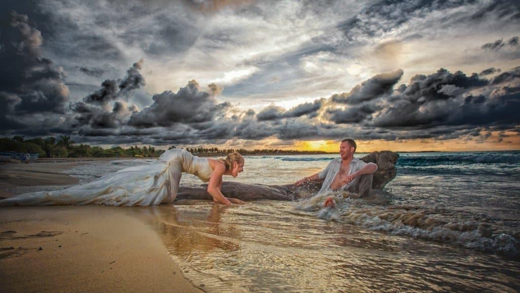 wedding portraits Macao beach