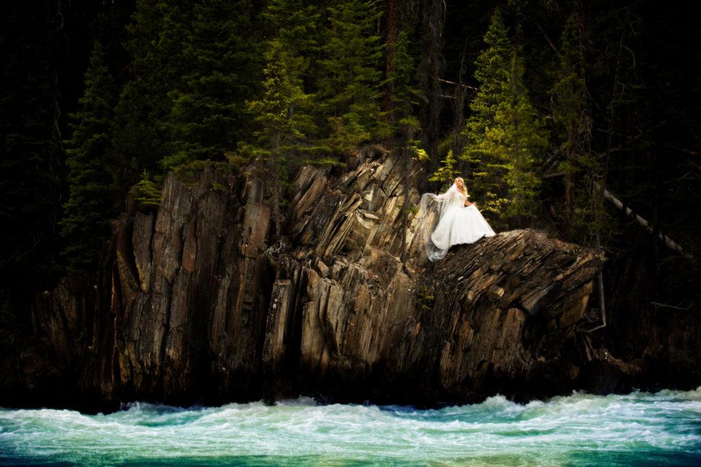 Natural Bridge, B.C. with Banff wedding photographers, Burnett Photogrpahy