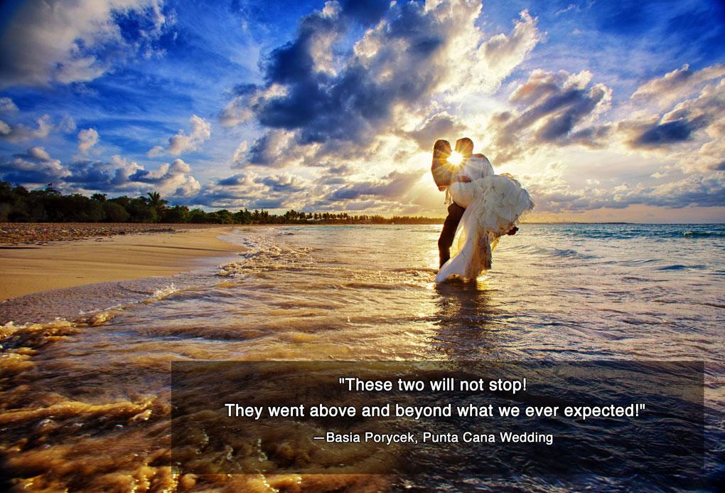 sunset bridal portraits, Playa Macao, Dominican Republic Destination wedding photograpers, Burnett Photography