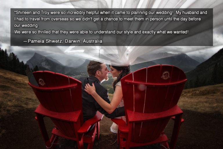 Wedding portraits at Mt. Norquay, Banff photographers, Burnett Photography