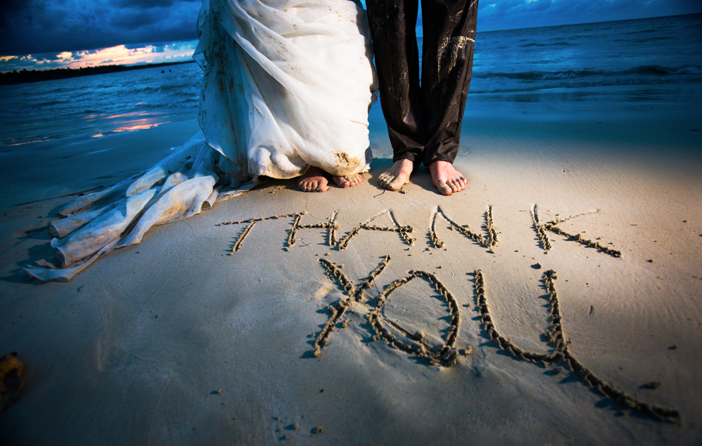 Thank you, Playa Macao, destination weddings