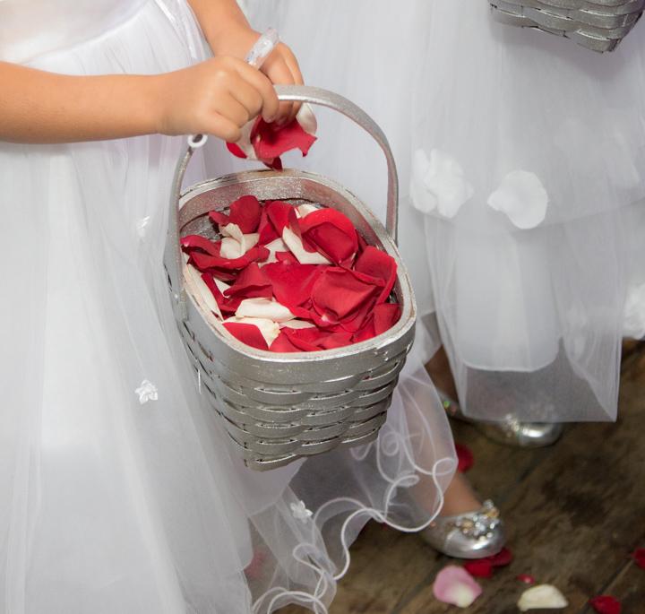 flower girl rose petals, Lake Louise, Lake Louise wedding, Lake Louise wedding photographer, banff photographer