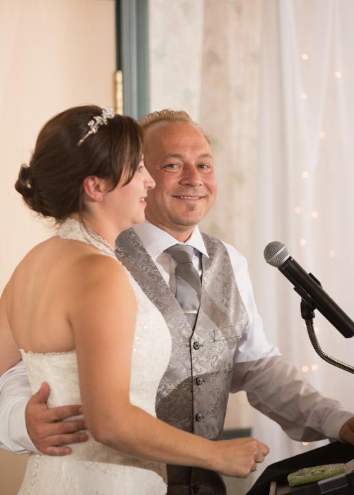 Bride & groom speech, Lake Louise wedding, Lake Louise wedding photographers, Banff wedding photographer