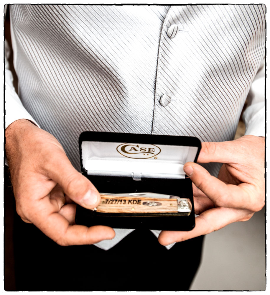 A meaningful gift for the groom shows you understand him.