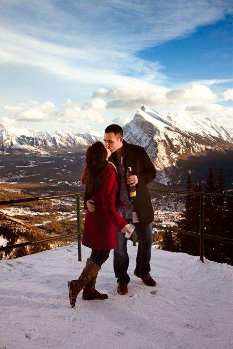Best wedding proposal site in Banff.