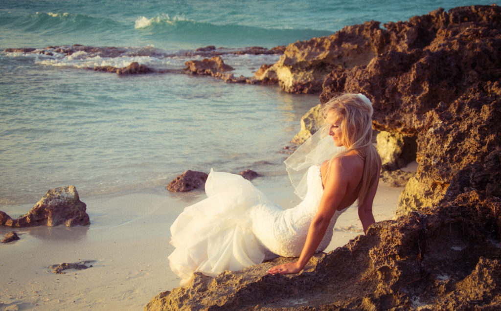 Crystal was a sexy bride in Cayo Santa Maria, Cuba