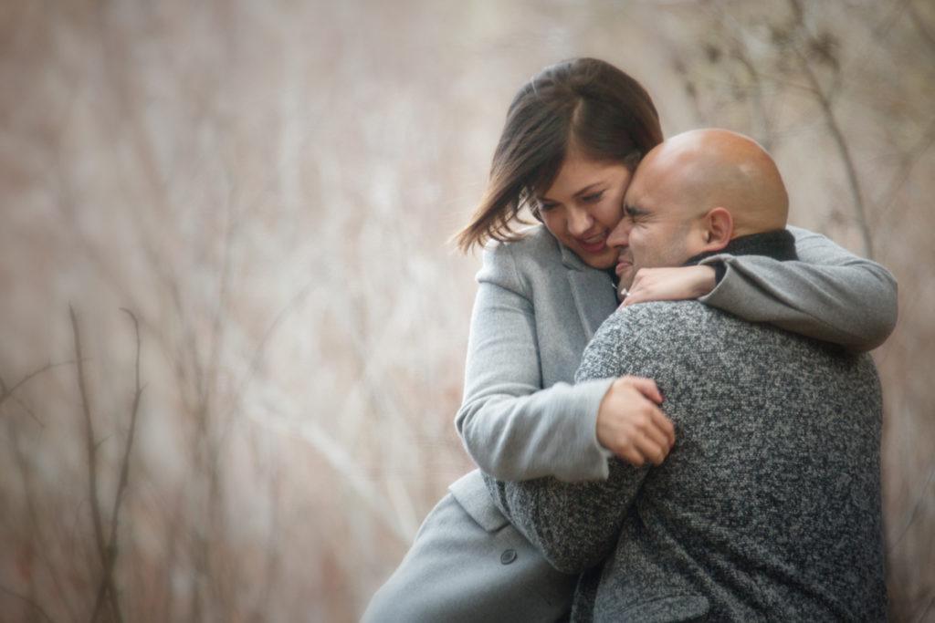 Engagement portrait, Banff, Burnett Photography