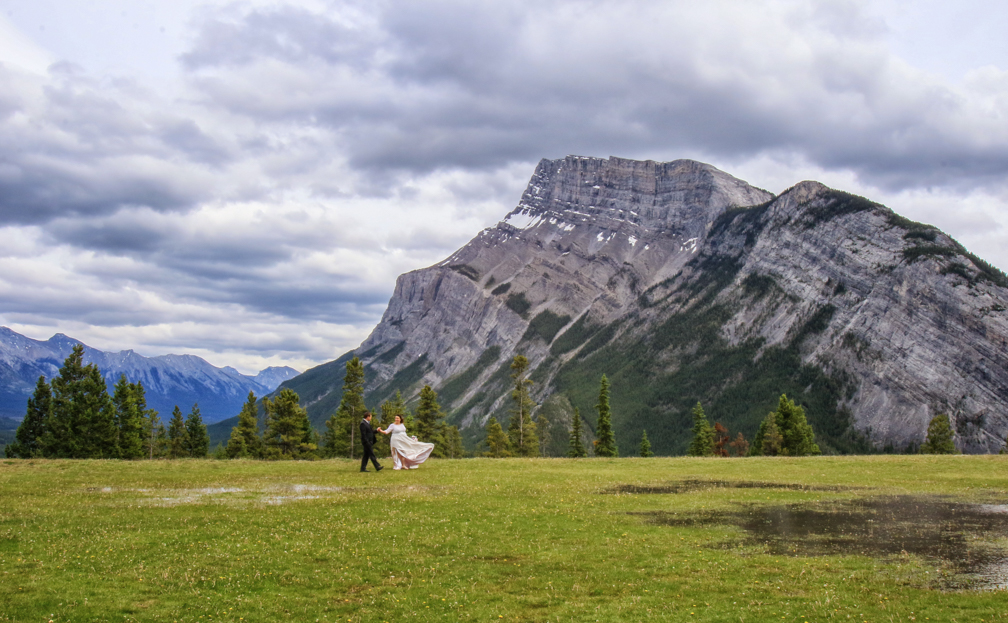 Beautiful Mt. Rundle at Tunnel Mt. Reservoire, Banff