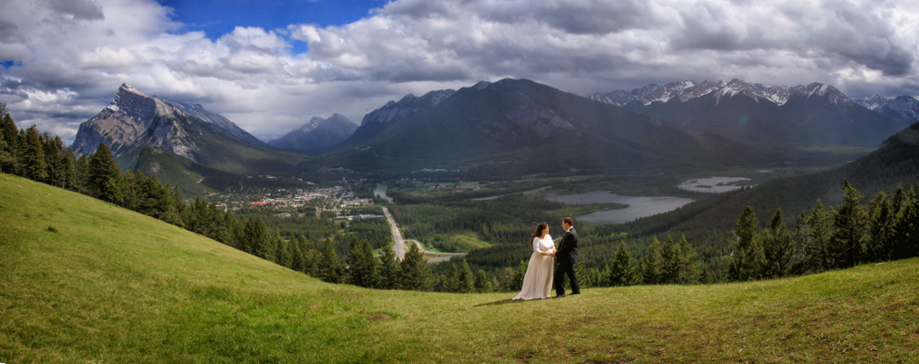 The view from Mt. Norquay Meadow, Banff.
