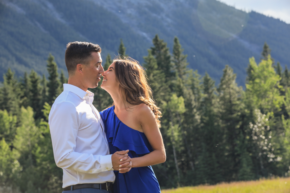 Engagement pictures in Canmore.