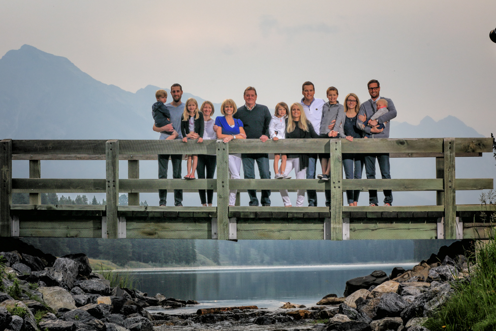 Family Portrait Photography in Banff, Johnson Lake, Johnson Lake, Banff National Park