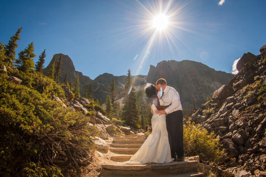 Moraine Lake bridal pictures.