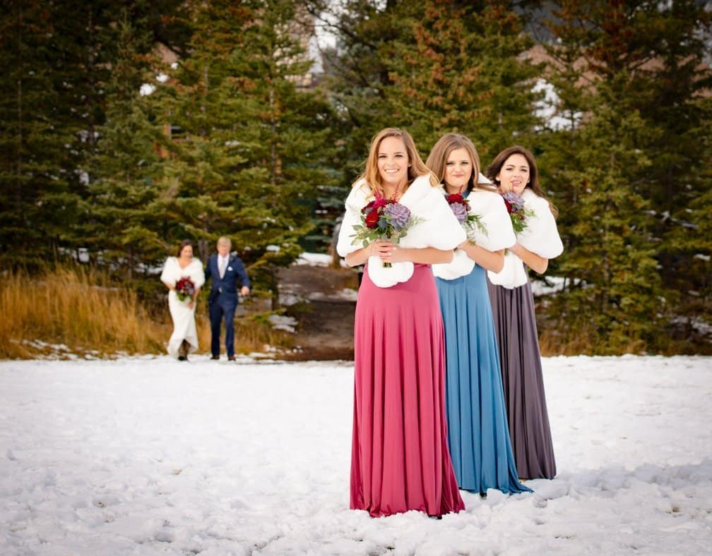 Daughters of the Bride & Groom, Elopement in Banff, Tunnel Mt.