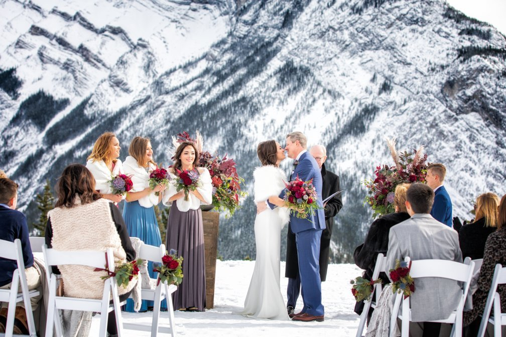 A Kiss to build a dream on.  Banff elopement.