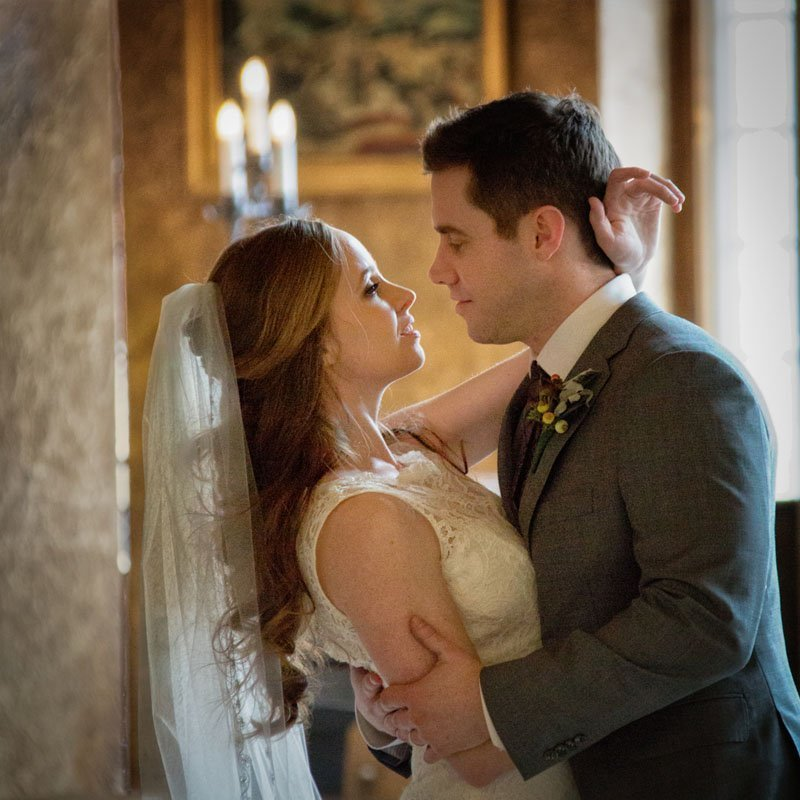 Banff Springs Hotel wedding photos, Bride and groom portraits by Banff wedding photographers, Burnett Photography