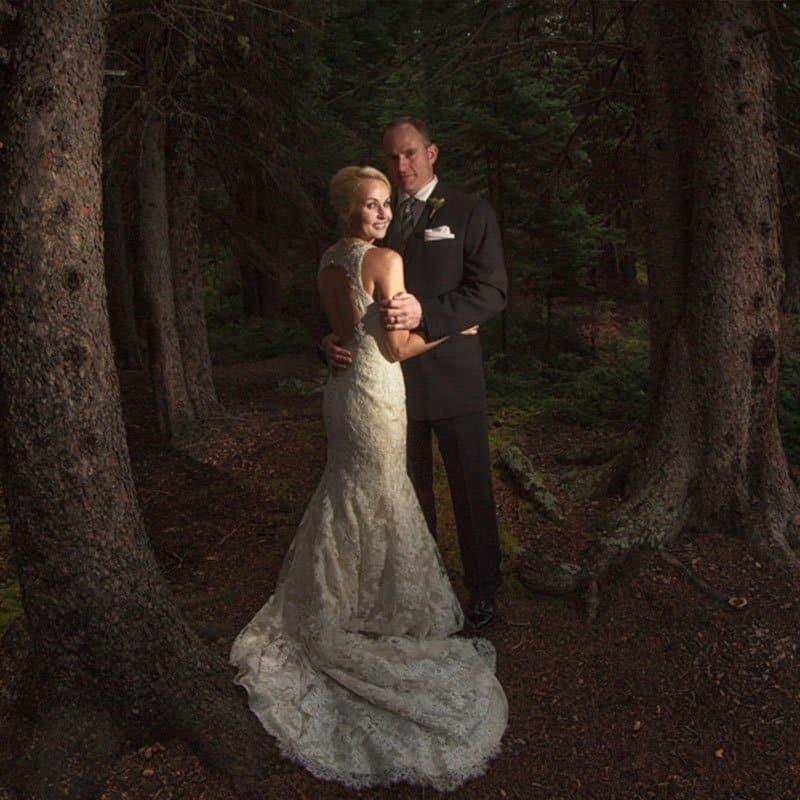Moraine Lake wedding photos by Best Lake Louise photographers, Burnett Photography.